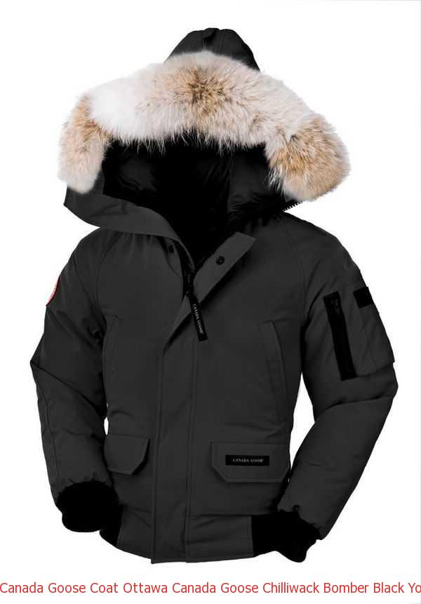 2d0b6d2bc Canada Goose Coat Ottawa Canada Goose Chilliwack Bomber Black Youth\'s