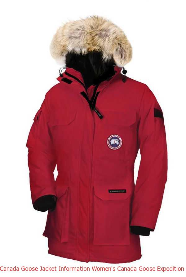 bb75f6b645be Canada Goose Jacket Information Women s Canada Goose Expedition Parka Red