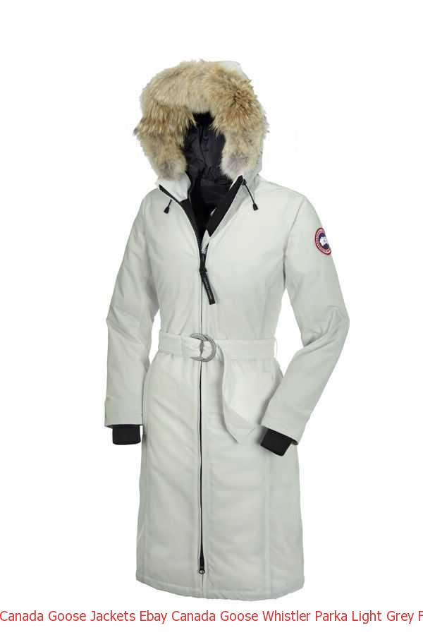 Canada Goose Jackets Ebay Canada Goose Whistler Parka Light Grey For Women  – Canada Goose Sale 98998a48d4