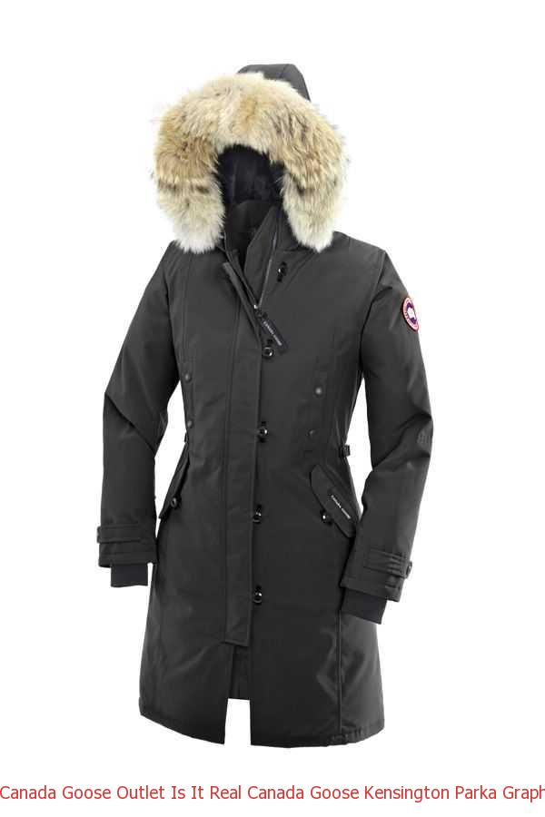 Canada Goose Outlet Is It Real Canada Goose Kensington Parka Graphite For  Women 985c50dd05a5